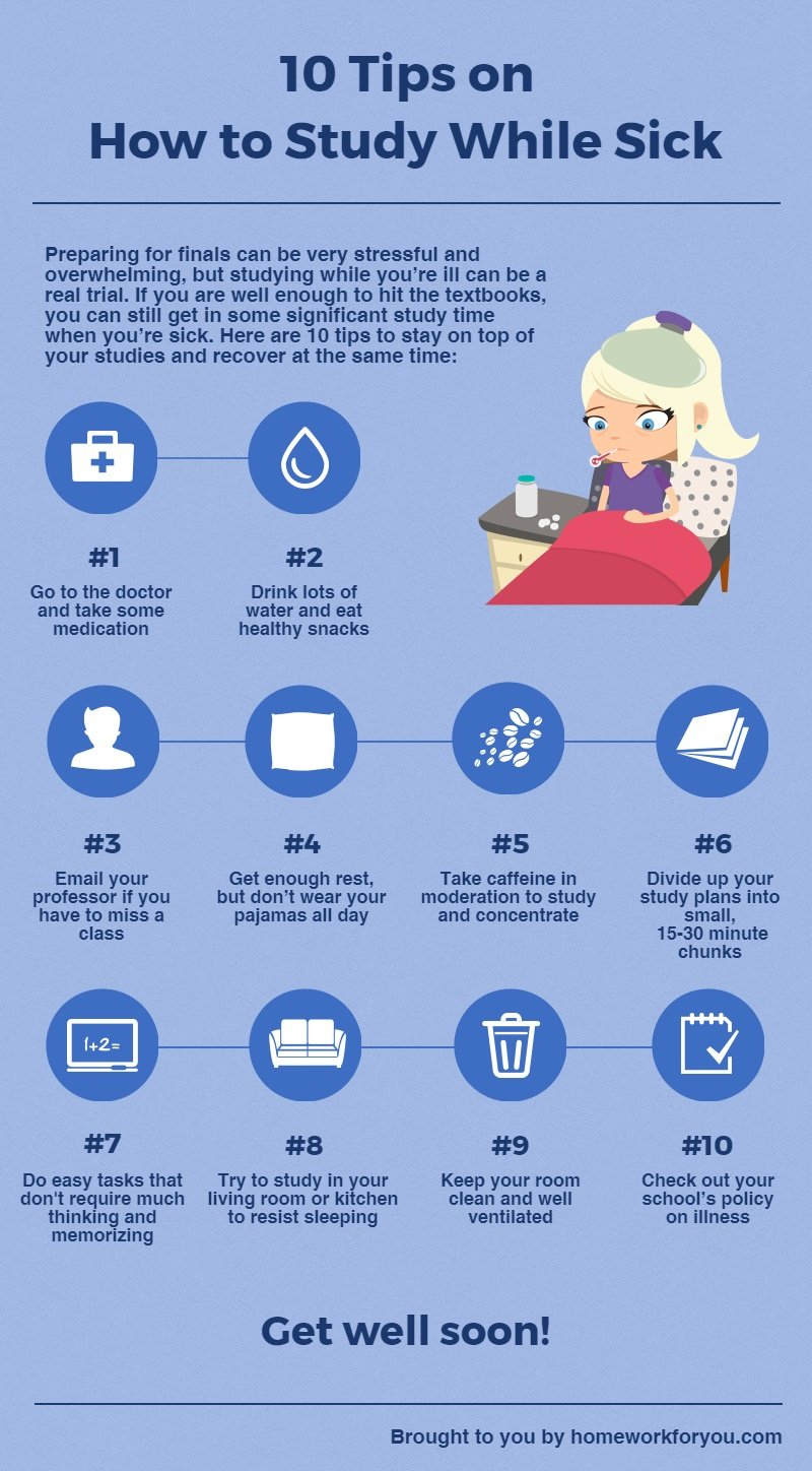 10 Tips on How to Study While Sick
